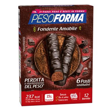 Barrette al cioccolato Fondente amabile dark - Pesoforma