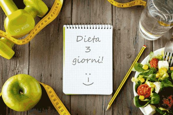 dieta-3-giorni-esercizio-fisico