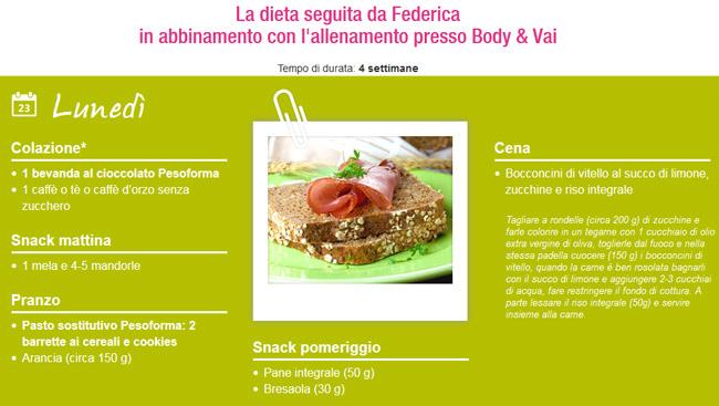 dieta-federica-pesoforma-body