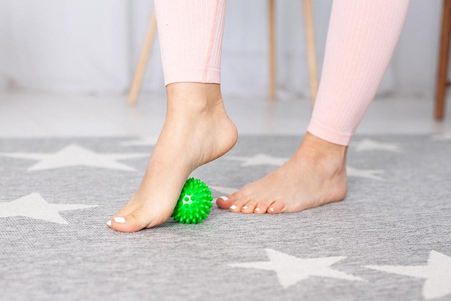 ginnastica per piedi forti
